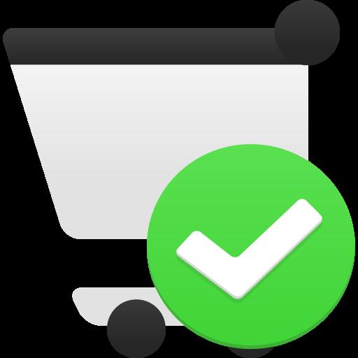 Shopping Cart Accept Icon Flatastic Iconset Custom Icon Design