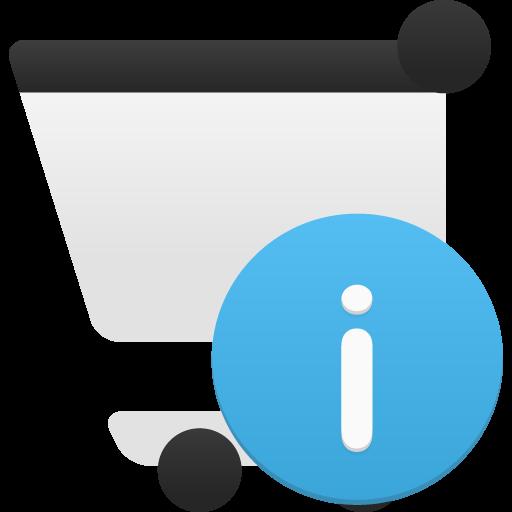 Shopping Cart Info Icon Flatastic Iconset Custom Icon Design