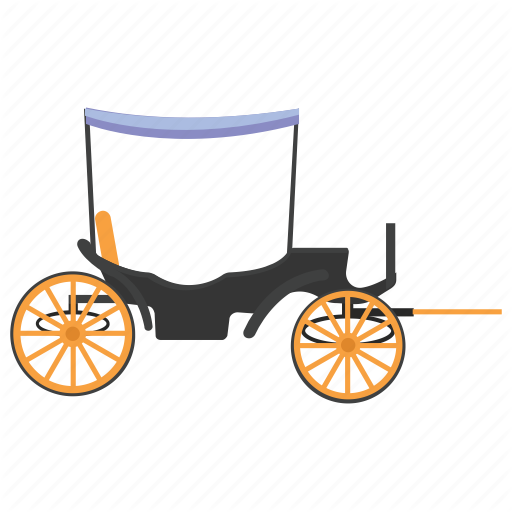 Carriage, Cart, Hand Cart, Man Driven, Vintage Transport Icon