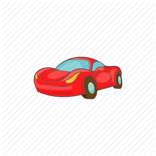 Car, Cartoon, Italian, Red, Small, Transport, Vehicle Icon