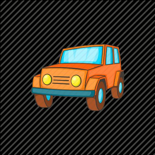 Car, Cartoon, Jeep, Transport, Transportation, Vehicle, Wheel Icon