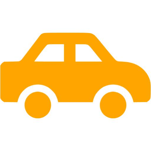 Small Orange Car Clipart Collection