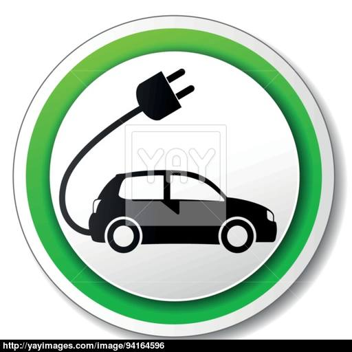 Vector Electric Car Icon Vector