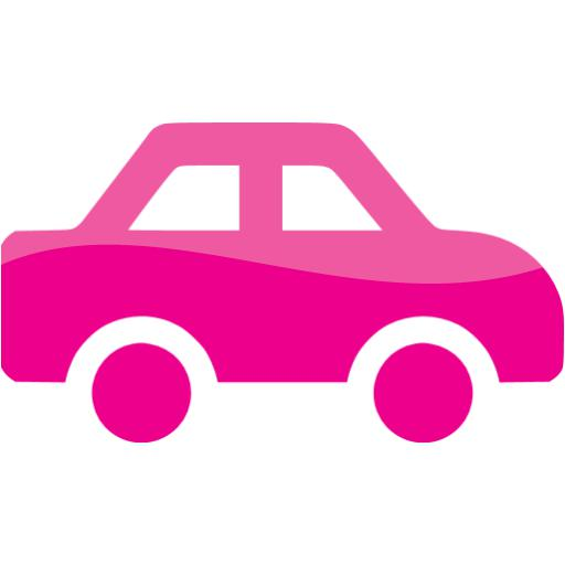 Web Deep Pink Car Icon