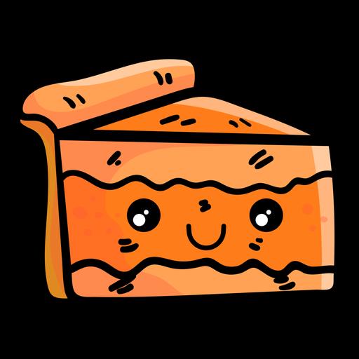 Pumpkin Pie Slice Cartoon Icon