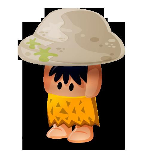 Caveman, Rock, Cartoon Icon