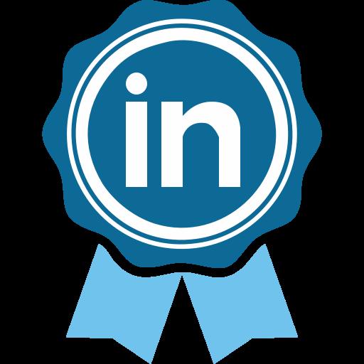 Social Media Linkedin Cartoon Icon