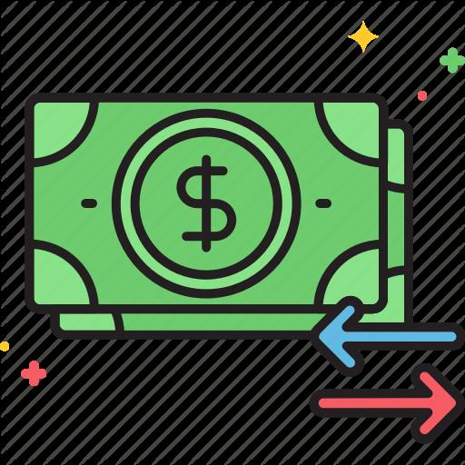 Cash, Cash Flow, Flow, Money, Money Flow Icon