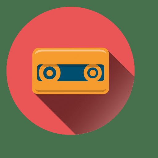 Cassette Tape Circle Icon