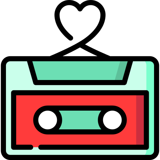 Valentines Cassette Png Icon