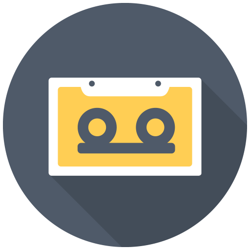 Cassette Icon Free Of Free Flat Multimedia Icons