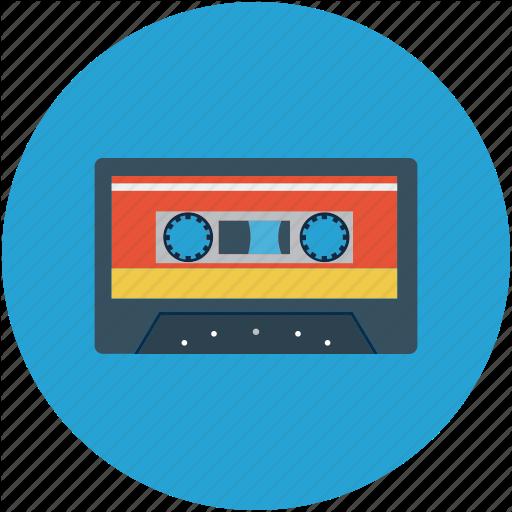 Cassette Tape, Record, Recording Tape Icon