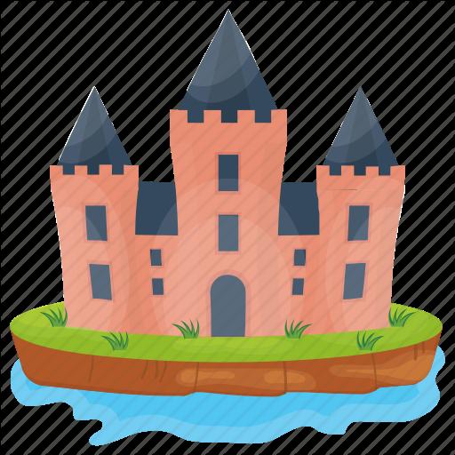 Castle, Castle Building, Fort, Kingdom Castle, Medieval Castle Icon