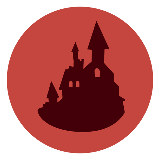 Haunted Castle Circle Icon
