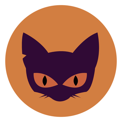 Cat Face Circle Icon