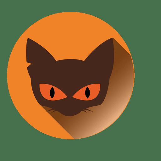 Cat Face Round Icon