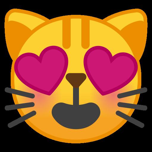 Smiling Cat Face With Heart Eyes Icon Noto Emoji Smileys Iconset