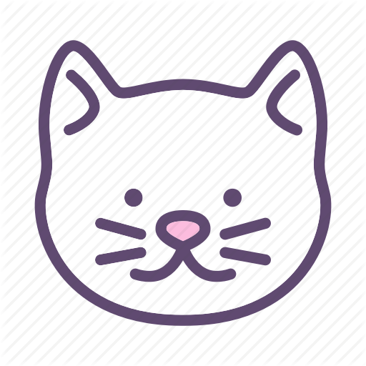 Animal, Cat, Head, Kitty, Pet Icon
