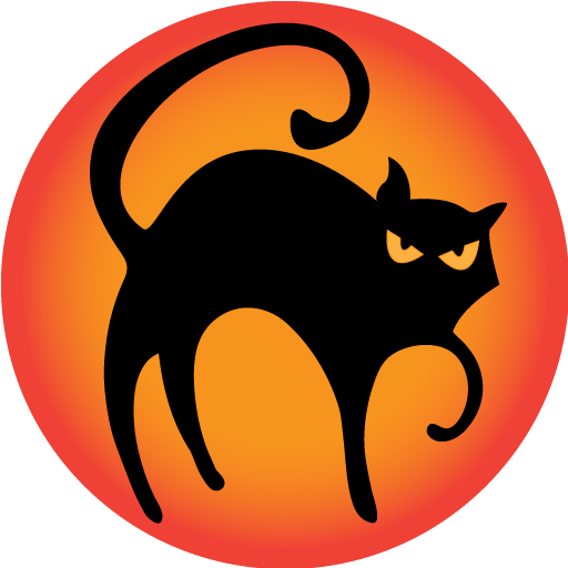 Black Cat Icon Halloween Iconset Goldcoastdesignstudio