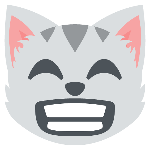 Grinning Cat Face With Smiling Eyes Emoji Emoticon Vector Icon