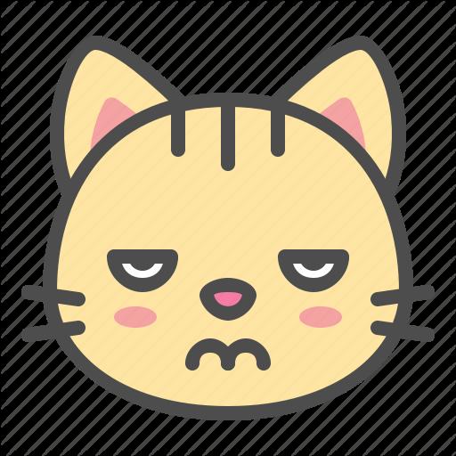 Bored, Cat, Cute, Face, Kitten, Pet Icon