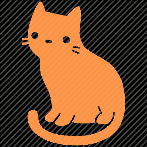 Cat, Cute, Feline, Ginger, Meow, Pet, Sit Icon