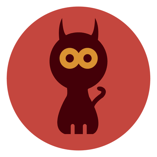 Spooky Cat Circle Icon