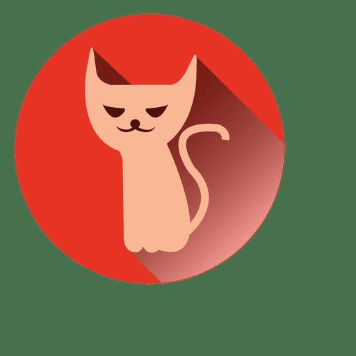 Witch Cat Round Icon
