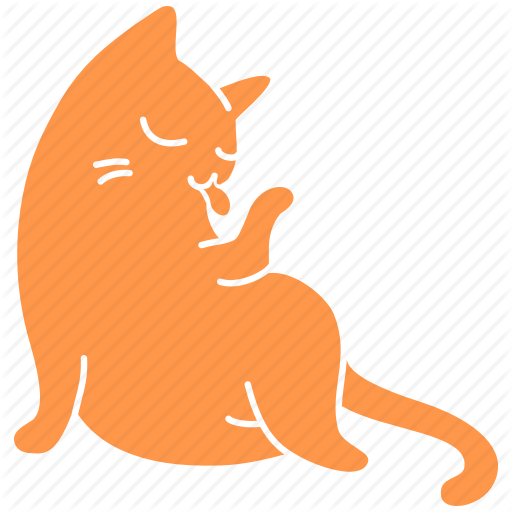 Cat, Cute, Feline, Ginger, Lick, Meow, Pet Icon