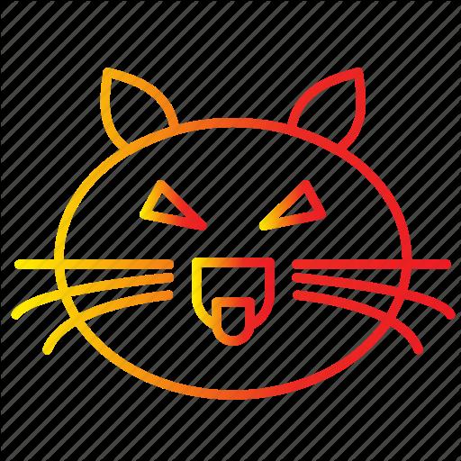 Animal, Cat, Evil, Face, Feline, Halloween Icon