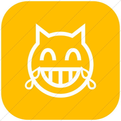 Flat Rounded Square White On Yellow Classic Emoticons