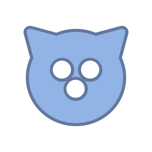 Mag, Blue, Virus, Cat, Round, Bot, Android Icon
