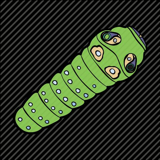 Arthropod, Caterpillar, Insect, Larva Icon