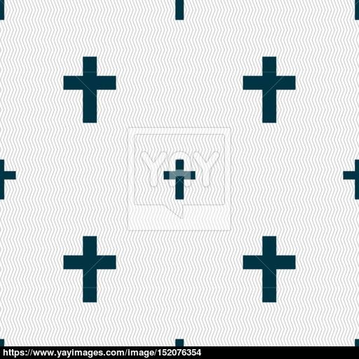 Religious Cross, Christian Icon Sign Seamless Pattern
