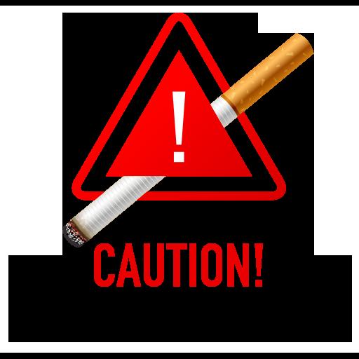 Caution No Smoking Area Symbol Icon