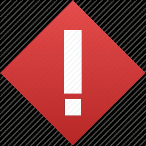 Alert, Attention, Caution, Danger, Error, Exclamation, Problem Icon