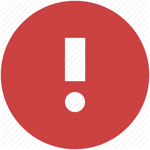 Alert, Caution, Danger, Error, Exclamation, Red, Warning Icon Icon