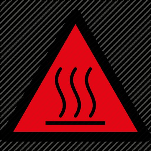 Attention, Caution, Danger, Hazard, Hot, Surface, Warning Icon