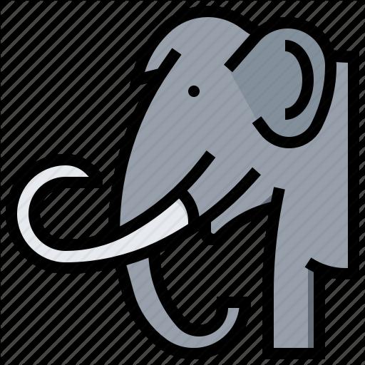 Animal, Elephant, Mammoth, Prehistoric Icon