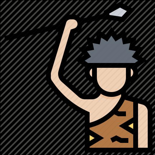 Caveman, Hunter, Juman, Man, Prehistoric Icon