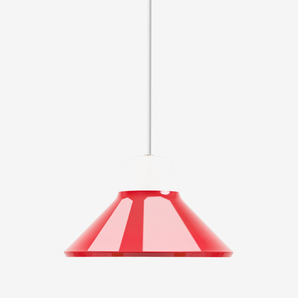 Icon Pendant Light In Mouth Blown Glass And Steel Black