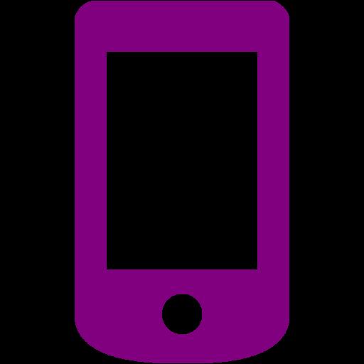Purple Mobile Phone Icon