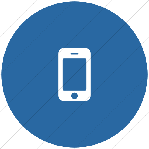 Flat Circle White On Blue Bootstrap Font Awesome Mobile