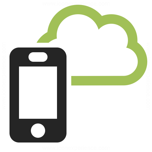 Smartphone Cloud Icon Iconexperience