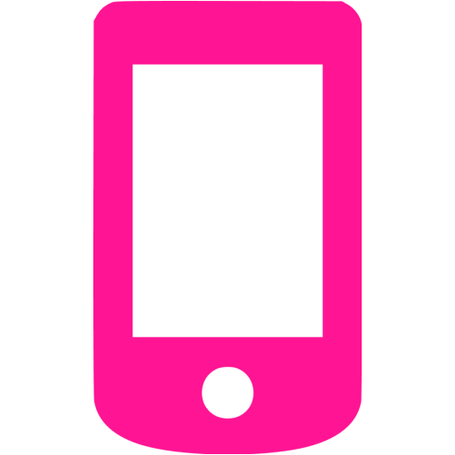Deep Pink Mobile Phone Icon