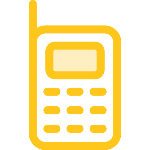 Mobile Phone Flat Gold Icon