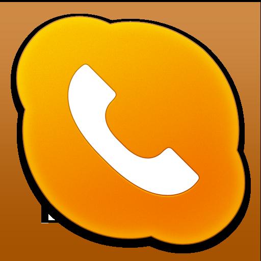 Orange Phone Icon Images