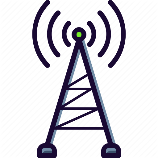 Cell, Connection, Mobile, Tower Icon