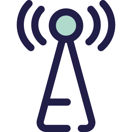 Antenna, Communications, Wireless Connectivity, Wireless Internet Icon