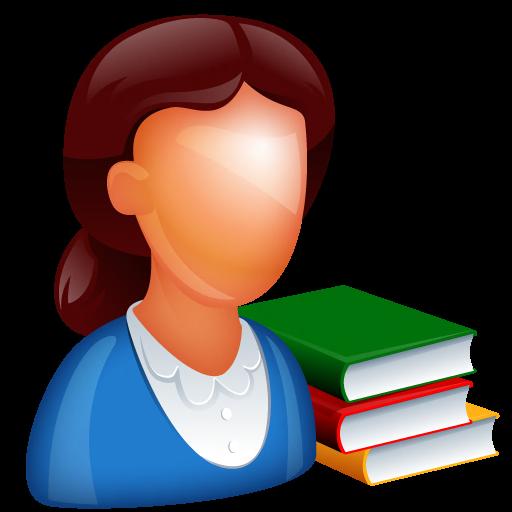 Teacher And Books Icon